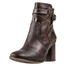 Mustang Heeled Ankle Boot Mujeres Botines Brown nuevo Zapatos