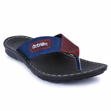 Action Shoes Flotters Men's Slippers (Pg-2608-Red-Blue)