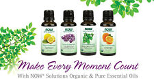 Now Foods ESSENTIAL ORGANIC OILS 1 oz For AROMATHERAPY  -select scent-