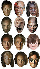 The Walking Dead Daryl Rick Zombi Tarjeta Caretas de fiesta Halloween Máscara