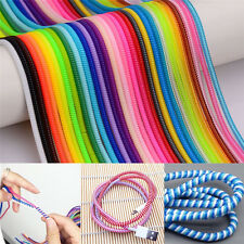 10x Spring Protector Cover Cable Line For Phone USB Data Sync Charging Cable FO