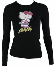 Hello Kitty camiseta de mujer en negro mod.9053 manga larga