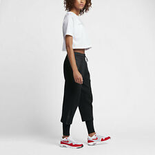 Nike SPORTSWEAR TECH FLEECE WOMEN'S SNEAKER TROUSERS BLACK RUNNING WALKING S M