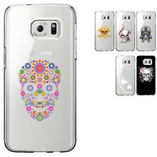 Coque rigide transparente pour Samsung Galaxy S7-Edge - Collection : Skull
