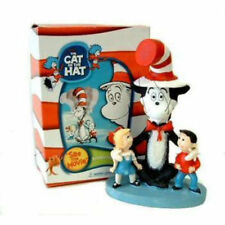 New Dr Seuss Cat In The Hat W/ Sally & Her Brother Resin Bobblehead/Cake Topper