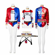 Suicide Squad Harley Quinn Cosplay Costume Outfit Uniform Joker Halloween Jacket