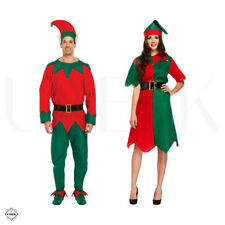 Adult Elf Costume - Couple Christmas Fancy Dress Costume Men & Ladies Elf Outfit