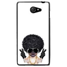 Coque souple noire pour Sony Xperia M2 - Collection : Doggangster