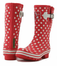 evercreatures Donna Stivali in gomma a pois BREVE 36 37 38 39 40 41 NUOVO
