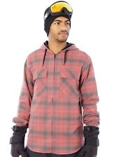 Giacca Snowboard Analog ATF Kaiden Hooded Flannel Grigios Pacific Plaid