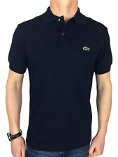 Lacoste Mens S/S Logo Branded Polo Shirt in Navy Blue