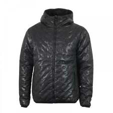 Luke Mens Paddie Opaque Spot Quilted Hooded Jacket (Black)