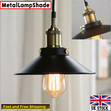 New Style Black Shade Ceiling Industrial Vintage Retro Pendant Light Lampshade
