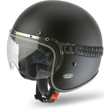 CASCO MOTO AIROH JET GARAGE COLOR BLACK MATT GA11