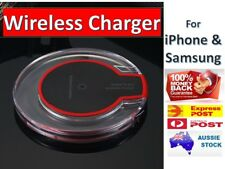 For iPhone X XS 8 Samsung S9 S8 Qi Wireless Charger FAST Charging Pad Receiver
