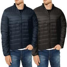 Mens URBAN CLASSICS Padded Quilted Jacket Coat Warm Winter Fashion Zip UNLEADED