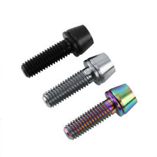 M6x16/20mm Titanio Ti Bolts Bike Stem Tapered Tornillo de cabeza + Washer