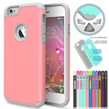 Shockproof Rugged Hybrid Rubber Matte Hard Case Cover For Apple iPhone
