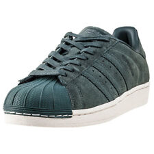 adidas Superstar Mens Olive Suede Casual Trainers Lace-up Genuine Shoes