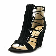 Jessica Simpson Womens Beccy Leather Open Toe Special Occasion Wedged Sandals
