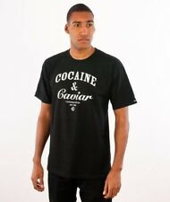 CROOKS & CASTLES COCAINE & CAVIAR GLOW IN THE DARK T-SHIRT - BLACK
