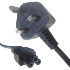 IEC C5 Clover Leaf Mains Lead. UK Plug. Power Leads. Asus Supply Cord. 5A