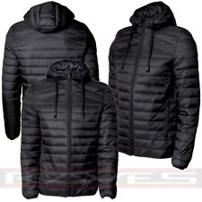 Mens Padded Bubble Puffer Jacket Coat Quilted Hooded Free Headphones Built in
