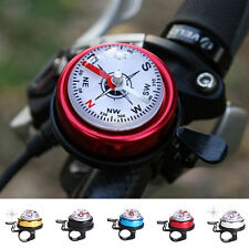 Bike Bicycle Invisible Bell Aluminum Loud Sound Compass Handlebar Safety Horn FO