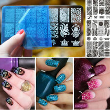BC Stamping Nail Art Rectangular Big Image Plate 6*12cm Lace Flowers Template