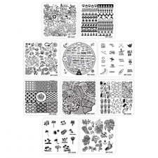10 pcs Bundle Monster Square Nail Art Stamping Plate Hangloose Collection