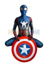 Captain America Spiderman hybrid Outfit - Hero Costume - 3D Shade Pattern suit