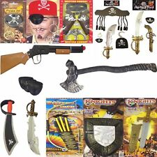 Kids Captain Jack 5pc Pirate Set Fancy Dress Costume Child Caribbean Accessory