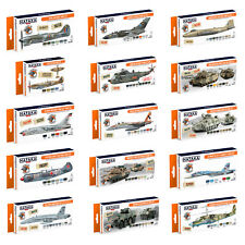 Hataka Orange Line Lacquer Based Air Brush Paint Sets Model Army Planes Colours