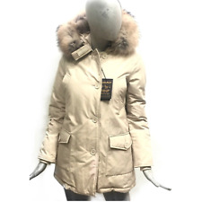 Woolrich Giaccone Donna Piumino Unisex Beige Cappotto Artic Parka DF WWCPS2479