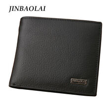 Genuine Leather Men Wallets Purse Money Bag Fashion Male Wallet Card Holder Coin