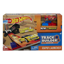 NEW HOT WHEELS Cars Track Builder System LOOP -RAPID LAUNCHER With Bricks Mattel