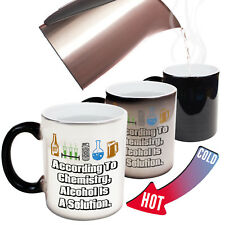 Funny Mugs According To Chemistry Alcohol Is A Solution Dad MAGIC MUG