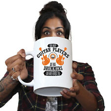 Funny Mugs BM God Created Guitar Players So Drummers Could Have Heroes GIANT MUG