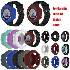 Silicona Banda Funda Correa Cover Case para Garmin Fenix 5X GPS Watch 8 Colors