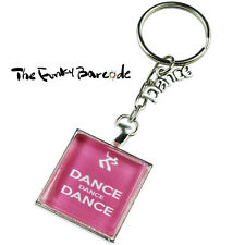 TFB - PINK DANCE KEYRING Chain Hobby Gift Gymnast Party Club Teacher Cool Funky