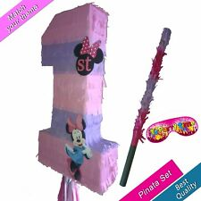 Minnie one Number 1 Girls Pinata Kids Smash Party Stick Mouse Club House 1st No.