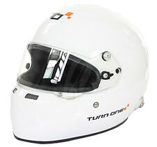 Turn One full-rs Rally Casco FIA 8859-2015 Aprobado Blanco S-XL ideal para