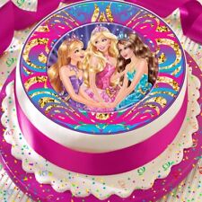 BARBIE AND FRIENDS PINK PRECUT EDIBLE BIRTHDAY CAKE TOPPER DECORATION