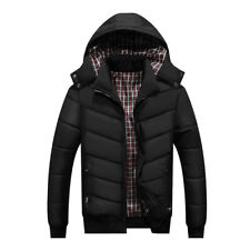 Casual Mens Warm Puffer Coat Hooded Outwear Jacket Long Sleeves Winter Coats
