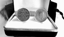 A YEAR TO REMEMBER SIXPENCE COINS IN CUFF LINKS / YEARS 1928 - 1967 AVAILABLE