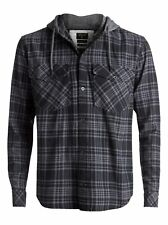 Quiksilver™ Snap Up Flannel - Long Sleeve Hooded Shirt - Hombre