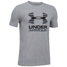 Under Armour Junior Two Tone Short Sleeve T-Shirt New UA Kids Boys Casual Tee