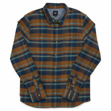 Vans Banfield II Long Sleeve Shirt Dress Blue Toffee Men's Skateboard Size S-XL