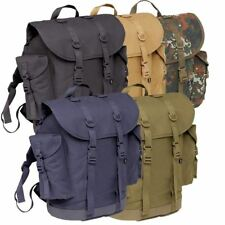 BRANDIT VINTAGE BW HUNTING TRAVEL BACKPACK POLICE SECURITY COTTON RUCKSACK