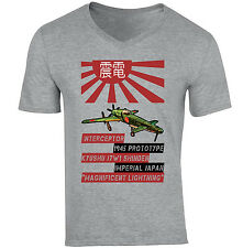 KYUSHU J7W1 SHINDEN - NEW COTTON GREY V-NECK TSHIRT